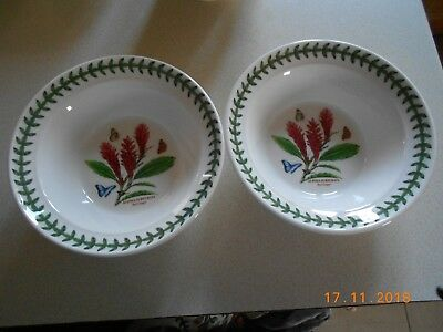 Portmeirion Exotic Botanic Garden Pair Of Cereal/oatmeal Bowls - 6.5 Inch