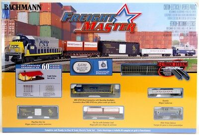 Bachmann 24022 N CSX GP40 Freightmaster Freight Train Set