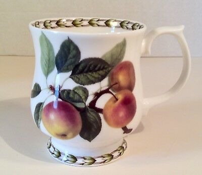 """""""Apples""""-Rosina-Queen's Collection HOOKERS FRUIT Footed Mug 3 5/8"""", England EUC"""