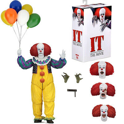 """NECA IT Pennywise Clown 1990 Ultimate 7"""" Action Figure 1:12 Scale 2018 New Seal"""