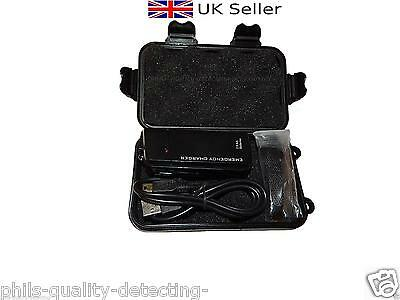 Fits XP Deus, Twin Battery Emergency Charger,Cable,Strap & Hard Storage Case.NEW