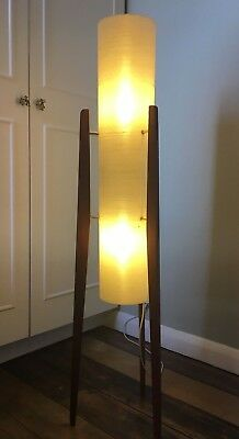 White rocket floor lamp original vintage retro kitsch mid century modern