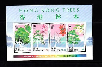 Hong Kong 1988 Tree Stamps & Miniature Sheet Unmounted Mint