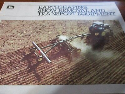 """John Deere """"Earthshaping, Snow Removal, and Transport Equipment"""" Sales Brochure"""