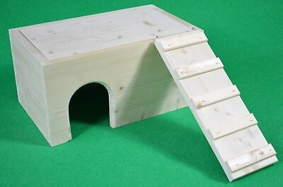 Chinchilla Solid Pine House/Hide 40x 23.5x20cm removable top -Degu,Rat, Guinea P