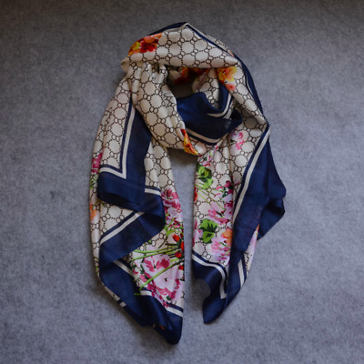 New Luxury Fashion High Quality Pashmina Silk Scarf For Women Scarves Hijab Wrap