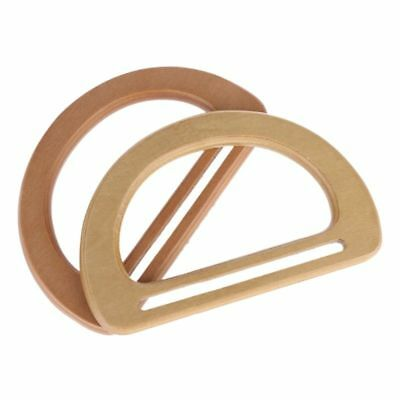Wooden Replacement Handle for DIY Bags Purse Making Shopping Tote Handbags