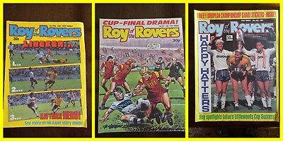 Roy of the Rovers 1988 comics  x 3