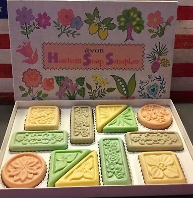 Collectible AVON Hostess Soap Sampler Gift Set 12 Soaps Made in USA Vintage GUC