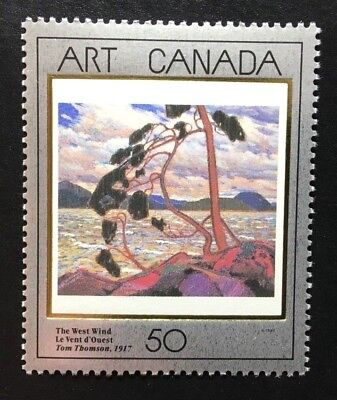 "Canada #1271 MNH, Masterpieces of Canadian Art ""3"" Stamp 1990"