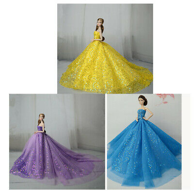 Handmade Wedding Dress Party Gown Outfits For 27-30cm Doll or 1/6 Dolls