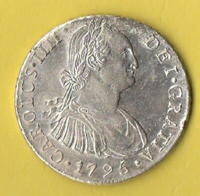 Very nice circulated Peru 8 reales silver coin, 1796