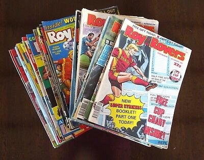 Roy of the Rovers 1990 comics  - 26 in all