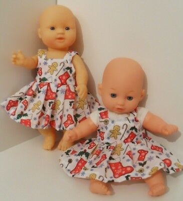 """12""""  Handmade Christmas Dolls Clothes Outfit Handmade To Fit 30Cm Doll"""