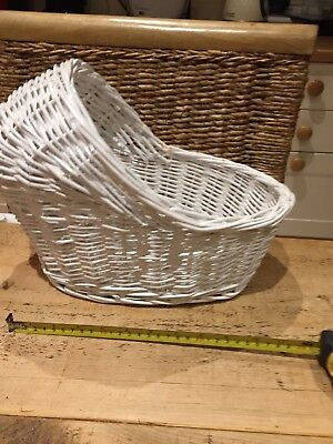 Gift Basket Hamper Pram Shaped - Medium White