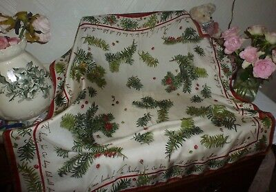 Liberty of London vintage rare silk scarf Xmas plant Taxus Baccata signed