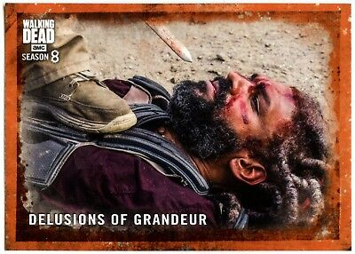 Delusions .. #38 The Walking Dead Season 8 Pt 1 Topps Rust Parallel Card (C2036)