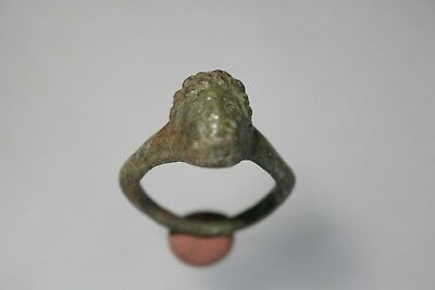 Ancient Unique Fantastic Roman Bronze Ring  1st - 3rd century AD
