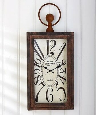 Large Bronze Vintage Wall Clock Antique Distressed Look Art Home Decor