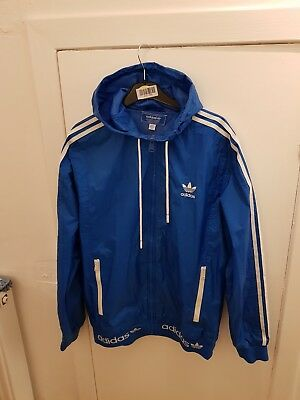Adidas lightweight jacket size medium in royal blue and white
