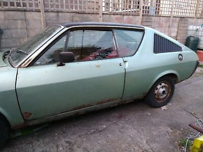 1979 Renault 17 TS - rare 70s coupe -  restoration project dry stored many years