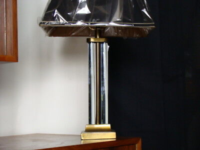 Gilbert Rohde Art Deco Table Lamp Glass Rods Gold Metal M.s.l.c.