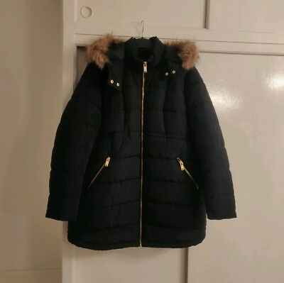 H&M Maternity Coat with Faux Fur Hood Large Size 14-16