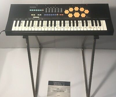 Casio Casiotone MT-520 Synthesizer Electronic Keyboard w/Drums & Stand Vintage