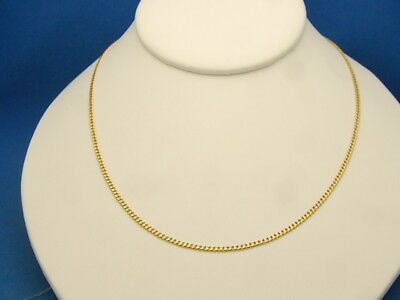 """14k Solid Yellow Gold Italian Curb Link Necklace Chain 21"""" 2.6mm 6.25 Gram"""