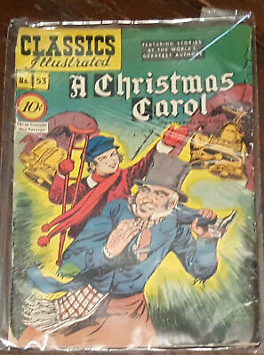 Classics Illustrated #53 HRN 53 First Print  A Christmas Carol - Gilberton