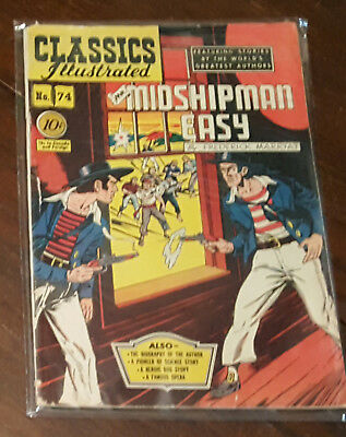 Classics Illustrated #74 HRN  Mr. Midshipman Easy -Gilberton