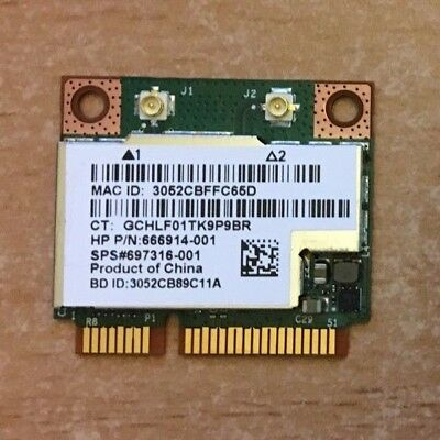 Broadcom BRCM1058  BCM943228HMB wifi N + Bluetooth 4.0 - HP 666914-001