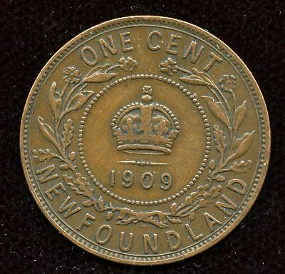 1909 Newfoundland Large One Cent