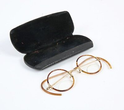 Antique Vintage 12K Gold 1/10 BSO Eyeglasses 1920s Spokane Washington W/ Case
