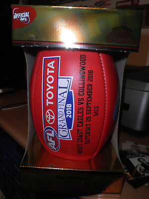 2018 West Coast Eagles Grand Final  Match Football SHERRIN RARE