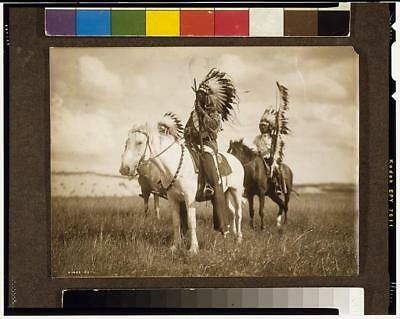 Sioux chiefs,Native Americans on Horseback,Indians of North America,Curtis
