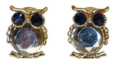 Cute Rhinestone Owl Pierced Stud Earrings Women Girls Teens Fashion Glitter