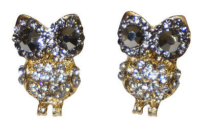Cute Rhinestone Owl Earrings Jewelry Women Girls Teens Fashionable Fashion