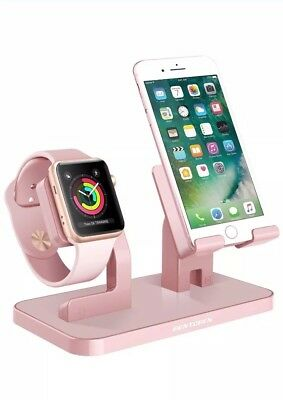 Apple Watch Stand, IPhone Iwatch Charging Dock Station Cradle - Rose Gold
