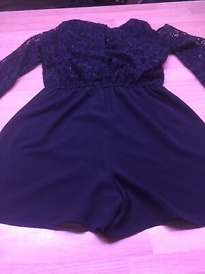Girls Playsuit Black Sparkle Age 11 Years Excellent Condition Great For Xmas