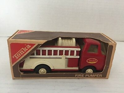 1960 Tonka Fire Pumper No. 595 100% Complete (Never Removed from Box)