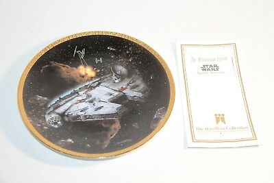 Star Wars THE MILLENNIUM FALCON Collector Plate Space  Hamilton Collection 1995