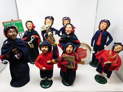Byers Choice Salvation Army Carolers Collection Lot of 11 Dolls and Accessories