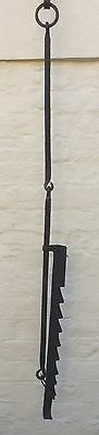 17th 18th Century Wrought Iron Chimney Pot Hook, Trammel Inglenook Fireplace 10.