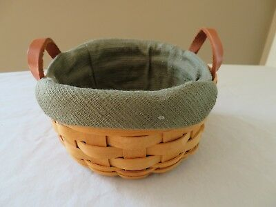 LONGABERGER 2003 Saffron Booking Basket COMBO with Liner and booklet