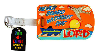 Religious Quote Airline Travel Luggage Tag Cruise Ship Silicone Rubber Bag Name