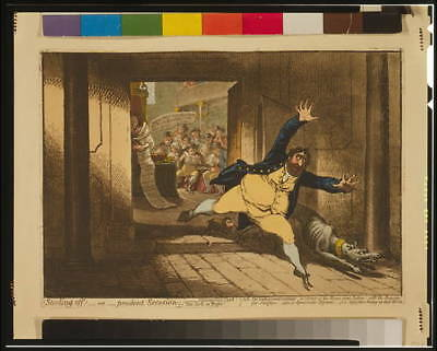 Stealing off; - or - prudent Secession,James Gillray,1798,Charles Fox,MA Taylor