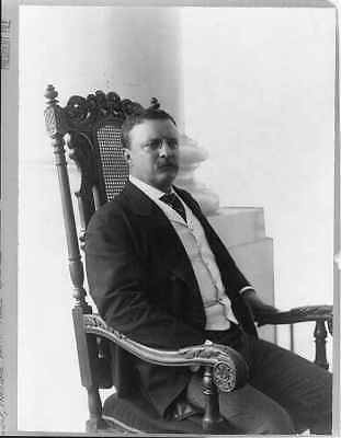 Theodore Roosevelt,President Teddy,right,seated,chair,Conrad M Gilbert,c1904