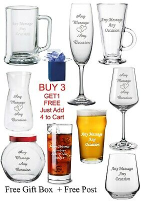 Personalised Glass Fathers, Mothers Day Wedding, Brother Daddy Mum Birthday Gift