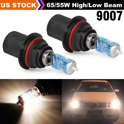 1Set 5000K White 9007 HB5 Headlight High Low beam 65/55W Ultra Bright for Dodge